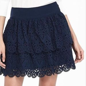 Banana Republic Eyelet ruffle skirt